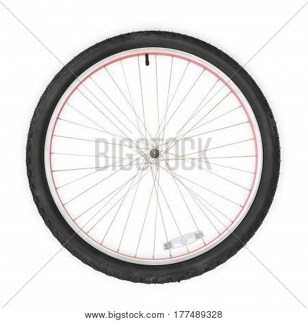 Bicycle wheel. Isolated on white clipping path included