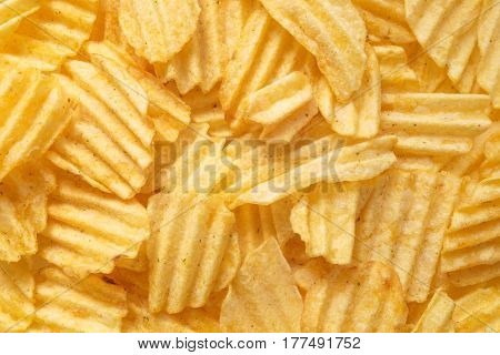 Potato Chips Food Background