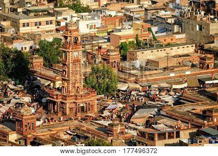 The Clock Tower And Sadar Market, Jodhpur, India