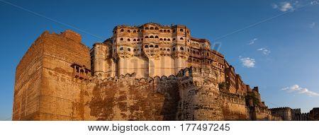 Mehrangarh Fort In Jodhpur, Rajasthan, India