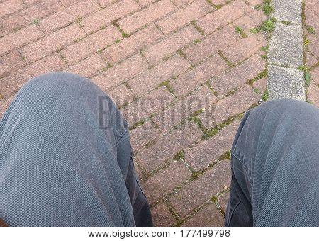 Man Waiting Outdoor