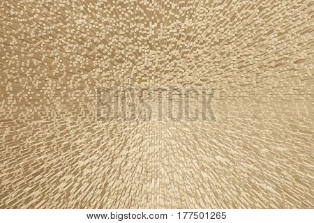 Bright golden background. Art object made by extrusion blocks. Suitable for decoration of interiors, wallpapers, pictures, etc. Horizontal location.