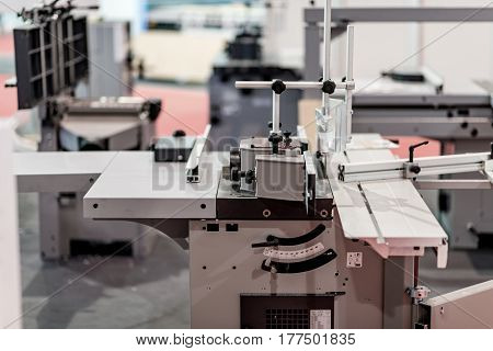 Cnc Machine For Profiles In Factorywoodworking Machine In Factory, Color Image, Indoors