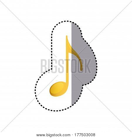 sign music note icon, vector illustration design