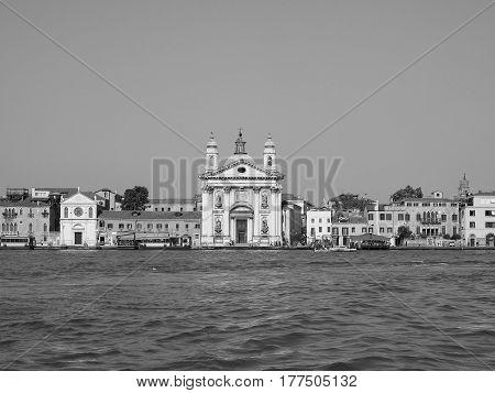 I Gesuati Church In Venice In Black And White