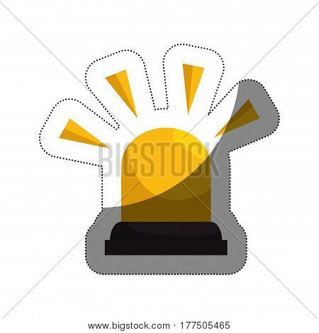 siren alarm isolated icon vector illustration design