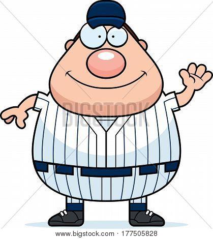 Waving Baseball Player