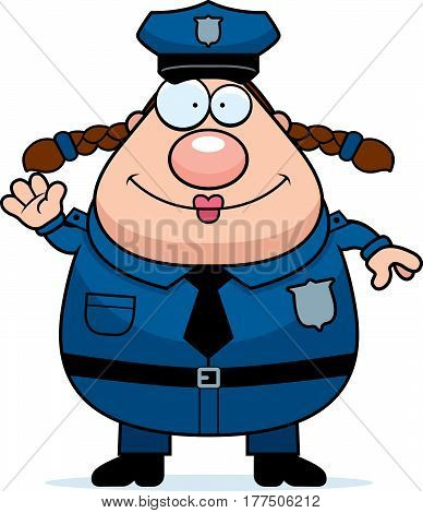Police Woman Waving