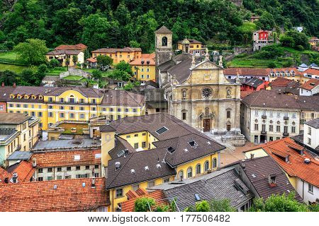 Old Town Of Bellinzona, Canton Ticino, Switzerland