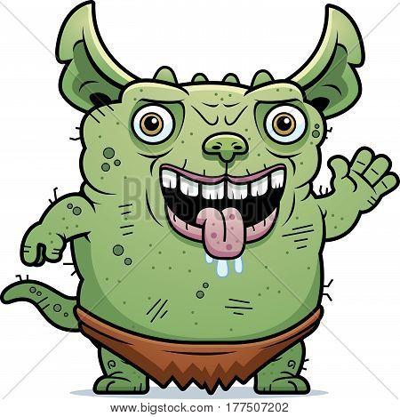Ugly Gremlin Waving