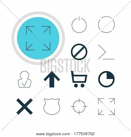 Vector Illustration Of 12 Interface Icons. Editable Pack Of Startup, Stopwatch, Repeat And Other Elements.