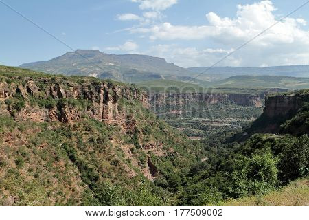 The Rift Valley of Ethiopia in Africa