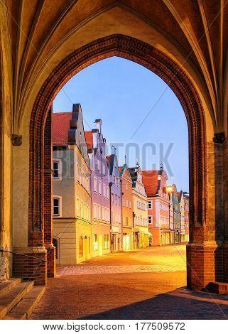 Old Gothic Town Landshut, Bavaria, Germany
