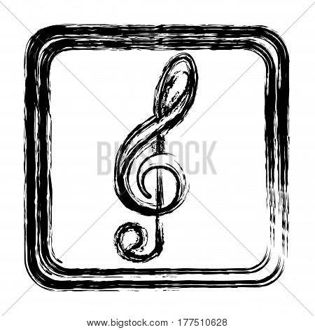 contour symbol music sign icon, vector illustration design