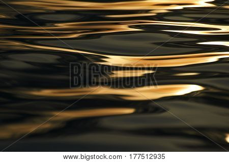 Abstract image created by waves on the water
