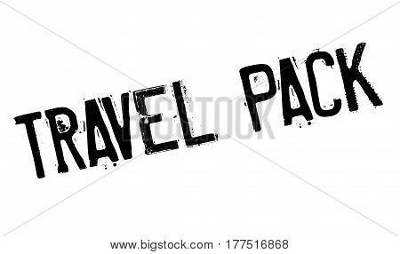 Travel Pack rubber stamp. Grunge design with dust scratches. Effects can be easily removed for a clean, crisp look. Color is easily changed.