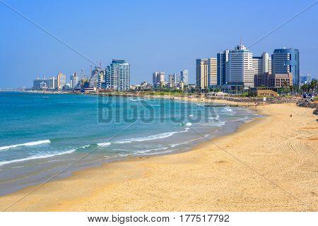 Modern Skyline Of Tel Aviv City, Israel