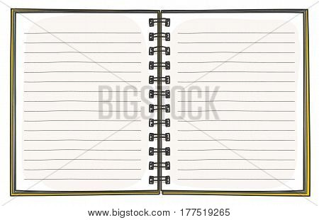 Template Notebook Hand Drawn Diary. Business Notepad. Notebook Cover Design Vector  Art Illustration