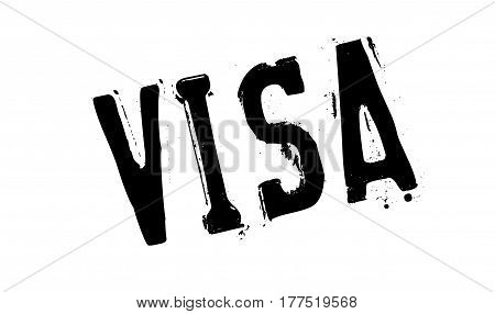 Visa rubber stamp. Grunge design with dust scratches. Effects can be easily removed for a clean, crisp look. Color is easily changed.