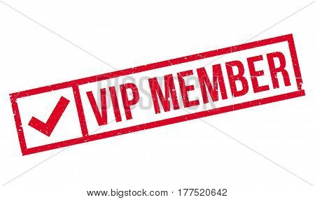 Vip Member rubber stamp. Grunge design with dust scratches. Effects can be easily removed for a clean, crisp look. Color is easily changed.