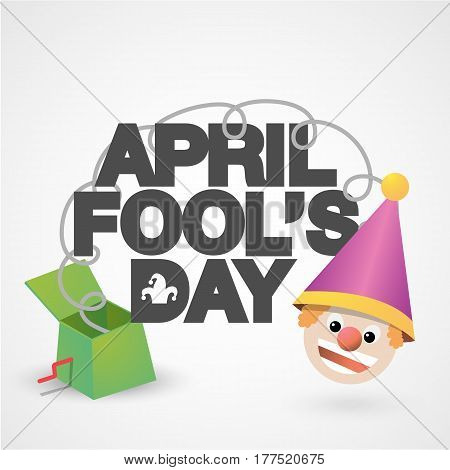 Happy April Fools' Day typographical background. Vector illustration.