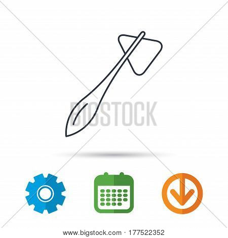 Reflex hammer icon. Doctor medical equipment sign. Nervous therapy tool symbol. Calendar, cogwheel and download arrow signs. Colored flat web icons. Vector