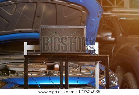 Car Garage Diagnostic Station