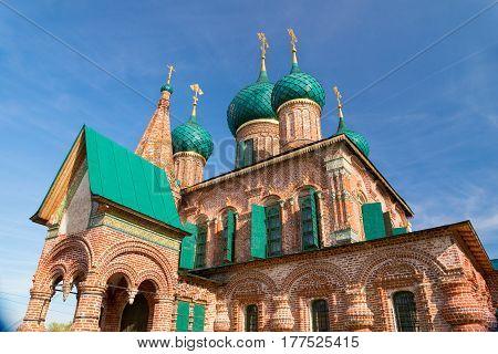 Church Of St. John Chrysostom In Yaroslavl. Golden Ring Of Russia