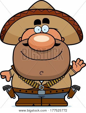 Waving Cartoon Bandito