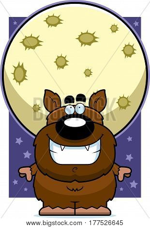 Cartoon Werewolf Moon