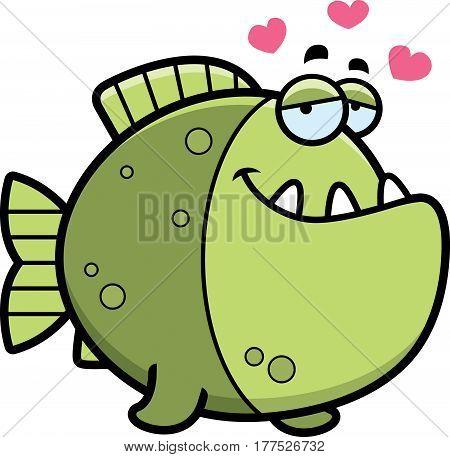 Cartoon Piranha In Love