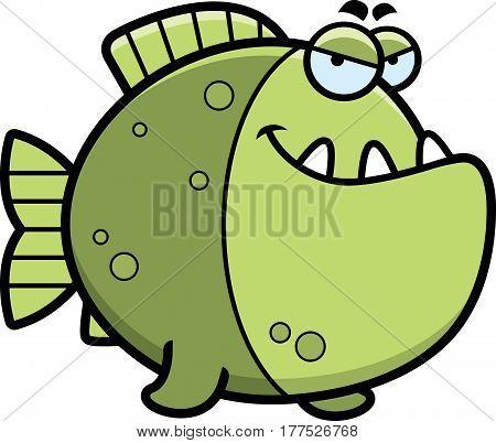 Sly Cartoon Piranha