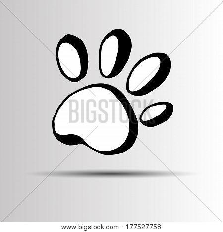 animal vector print paw foot shape illustration