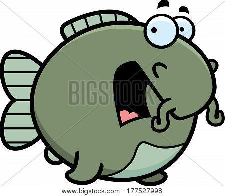 Scared Cartoon Catfish