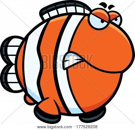 Angry Cartoon Clownfish