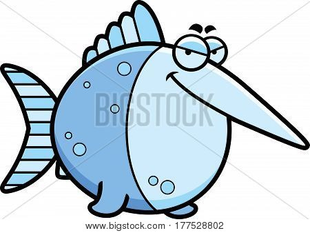 Sly Cartoon Swordfish