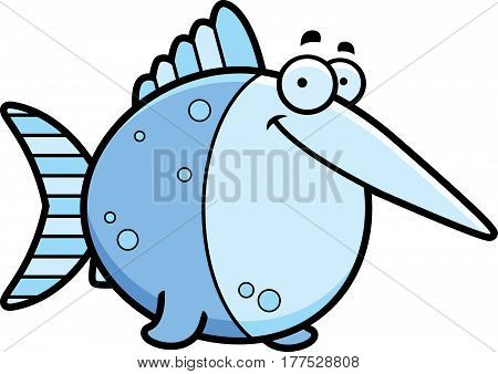 Cartoon Swordfish Smiling