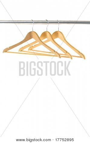 Coat hangers on a clothes rail