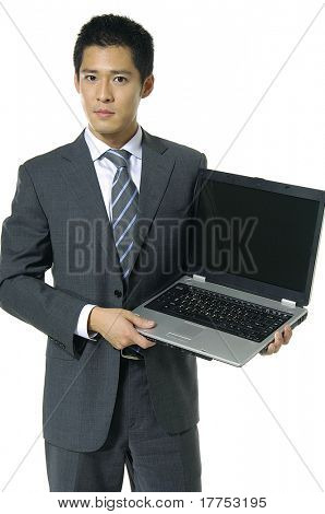 asian business man smsing