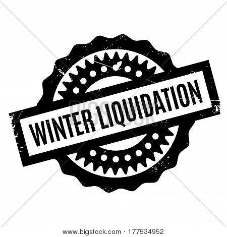 Winter Liquidation rubber stamp. Grunge design with dust scratches. Effects can be easily removed for a clean, crisp look. Color is easily changed.