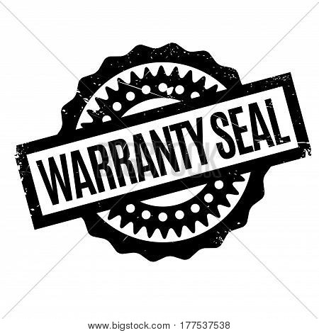 Warranty Seal rubber stamp. Grunge design with dust scratches. Effects can be easily removed for a clean, crisp look. Color is easily changed.