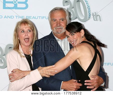 LOS ANGELES - MAR 19:  Laurette McCook, John McCook, Rene Sofer at the