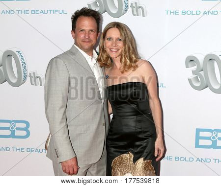 LOS ANGELES - MAR 19:  Scott Martin, Lauralee Bell Martin at the
