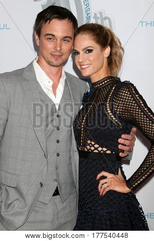 LOS ANGELES - MAR 19:  Darin Brooks, Kelly Kruger at the