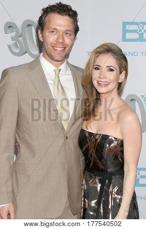 LOS ANGELES - MAR 19:  Joel Henricks, Ashley Jones at the