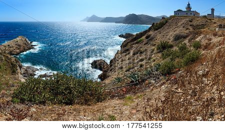 Sea Coast With Lighthouse (costa Blanca, Spain).