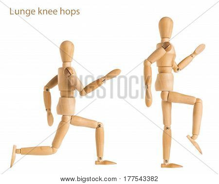 Lunge Knee Hops Pose