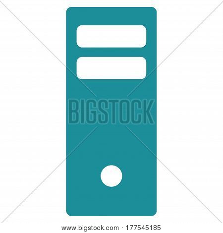 Server Mainframe vector icon. Flat soft blue symbol. Pictogram is isolated on a white background. Designed for web and software interfaces.