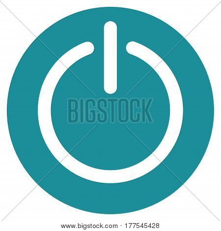 Turn Off Power vector icon. Flat soft blue symbol. Pictogram is isolated on a white background. Designed for web and software interfaces.