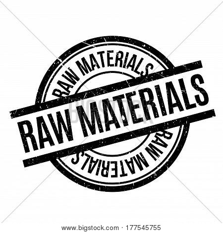 Raw Materials rubber stamp. Grunge design with dust scratches. Effects can be easily removed for a clean, crisp look. Color is easily changed.